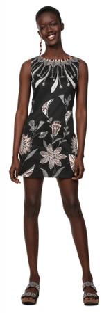 Desigual ženska obleka Vest Kira, 34, črna