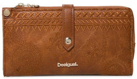 Desigual ženska denarnica Mone Dark Amber Ester, rjava