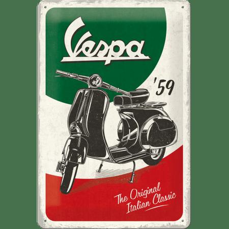 Postershop Fém tábla: Vespa The Italian Classic