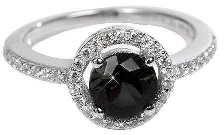 Silver Cat Srebrni prstan s kristali SC163 (Obseg 54 mm) srebro 925/1000