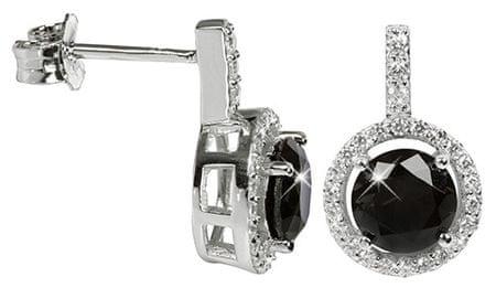 Silver Cat Ezüst fülbevaló kristályokkal SC165 ezüst 925/1000