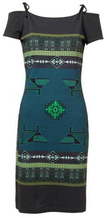 Desigual ženska obleka Vest Aretha, XS, modra
