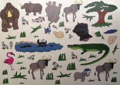 Stenska nalepka, tropske živalice