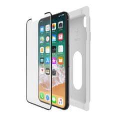 Belkin Lekerekített edzett védőüveg iPhone X/Xs telefonra, felhelyező kerettel F8W867zzBLK