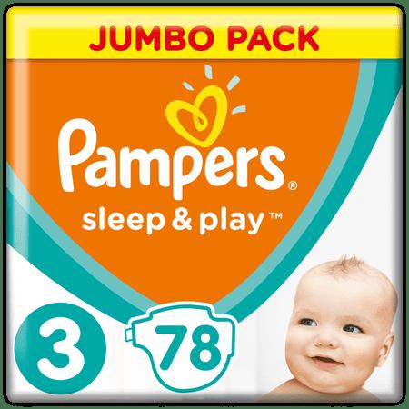 Pampers Sleep&Play 3 Jumbo Midi pelenka - 78 db