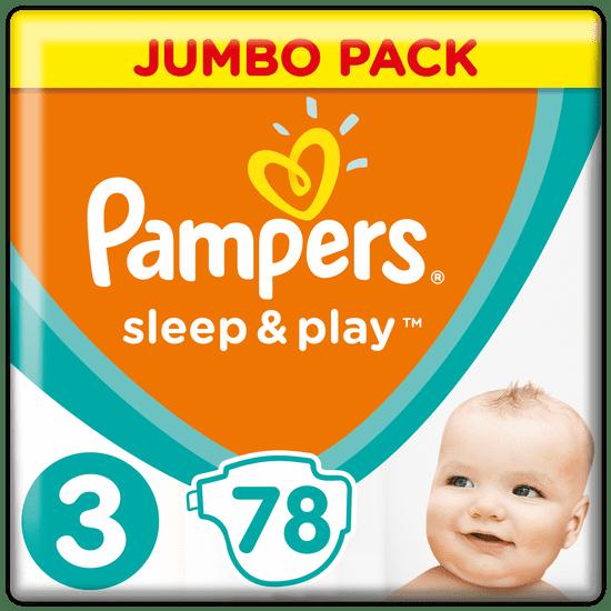 Pampers Plenky Sleep & Play 3 Jumbo Midi (6-10 kg) 78 ks