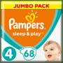 1 - Pampers Sleep & Play 4 Jumbo Pack (9-14 kg) 68 ks