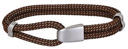 Troli Barna textil karkötő acél horoggal