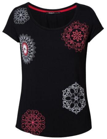 Desigual ženska majica TS Sonja, S, črna