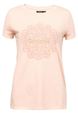 Desigual koszulka damska TS Manchester L łososiowy
