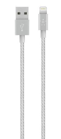 Belkin Kábel MIXIT Metallic Lightning 1,2 m, fémes szürke F8J144bt04-GRY