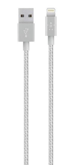 Belkin Kabel MIXIT Metallic Lightning 1,2 m, kovově šedý F8J144bt04-GRY