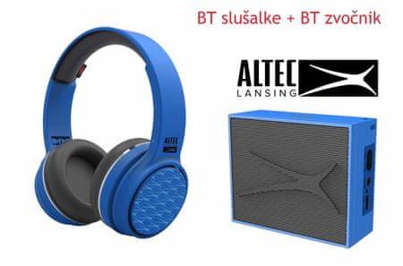 Altec Lansing Ring N Go + Pocket, Bluetooth slušalice i zvučnik - komplet, plavi