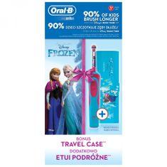 Oral-B Elektryczna szczoteczka do zębów dziecięca Vitality Frozen + etui podróżne