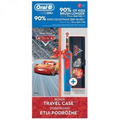 Oral-B Elektryczna szczoteczka do zębów dziecięca Vitality Cars + etui podróżne
