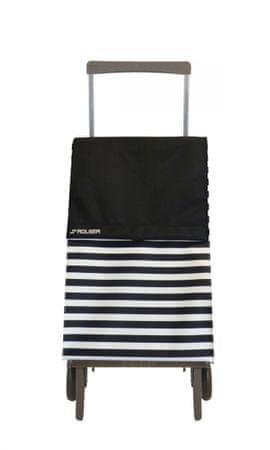 Rolser nakupovalna vrečka na kolesih Plegamatic Original Marina, črna/bela