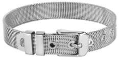 Troli Zapestnica iz jeklene mreže za vrvice iz srebrnih obeskov Unikat