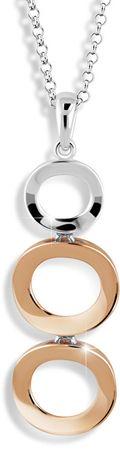 Modesi Elegantný bicolor náhrdelník zo striebra M45014 (retiazka, prívesok) striebro 925/1000