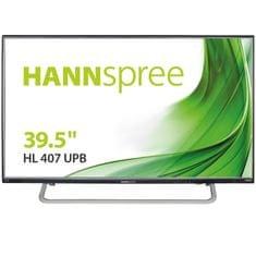 Hannsg LED LCD monitor HL407UPB, IPS, FHD, 100,33 cm (39,5''), crno-sivi
