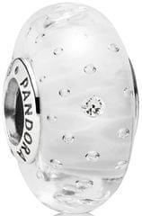 Pandora Biały koralik z kryształami 791617CZ srebro 925/1000