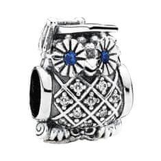 Pandora Stříbrný korálek Sovička 791502NSB stříbro 925/1000