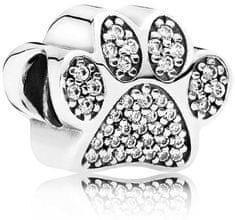 Pandora Stříbrný korálek Tlapka 791714CZ stříbro 925/1000