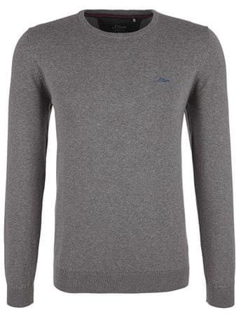 s.Oliver Męska sweter 03.899.61.4544 .9730 Mieszanka Grey (rozmiar XXL)