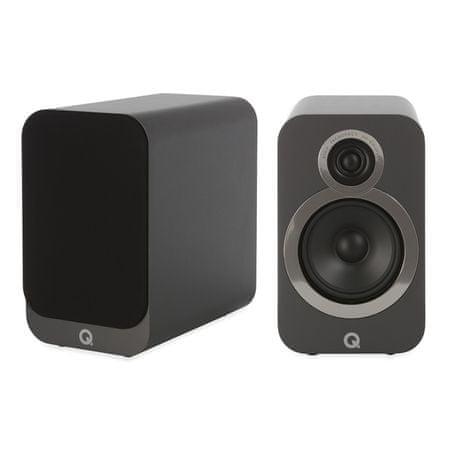 Q Acoustics par kompaktnih Hi-Fi zvočnikov 3020i, siva