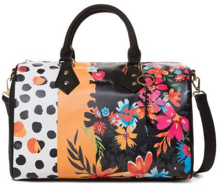 Desigual ženska torbica Bols Carmela Patch Bowlin, crna