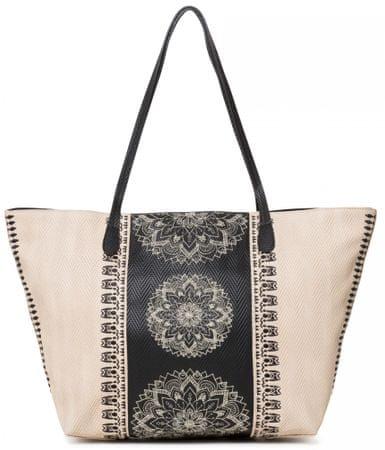 Desigual béžová kabelka Bols Lady Capri Zip