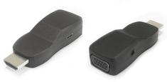 PremiumCord Przejściówka HDMI na VGA mini z wtyczką audio i zasilającą, czarny khcon-21
