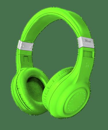 Trust brezžične Bluetooth slušalke, zelena