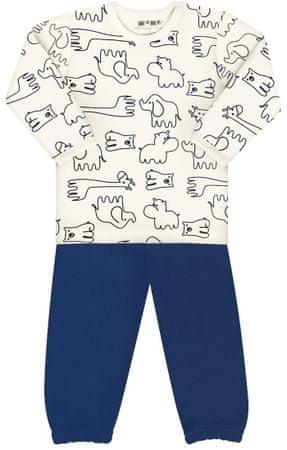 Nini chlapecké pyžamo zvířátká 80 bílá