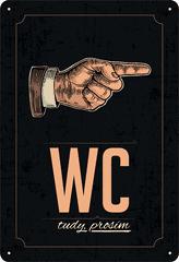 Postershop Plechová tabuľa: WC