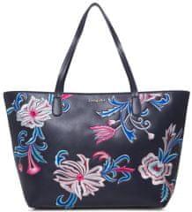 Desigual ženska torbica Bols Orangina Capri Zipper, temno modra