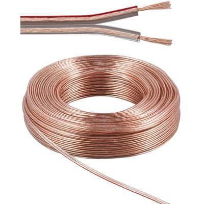 PremiumCord Kabely na propojení reprosoustav 100% CU měď 2x0,75mm 10m