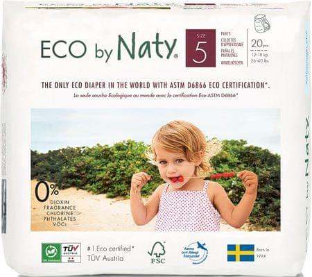 NATY Natahovací plenkové kalhotky 5 Junior (12-18 kg) 20 ks