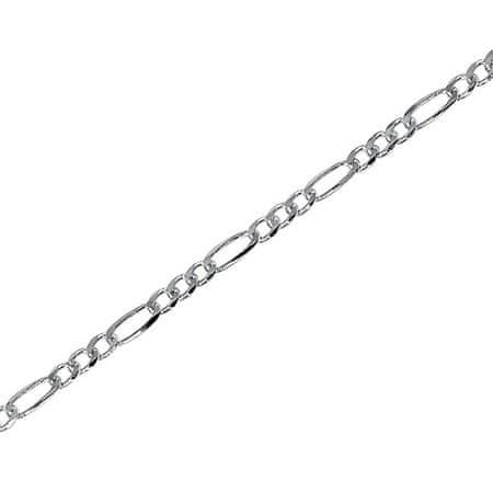 Brilio Silver Strieborná retiazka Figaro 42 cm 471 086 00159 04 - 3,90 g striebro 925/1000