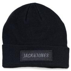 Jack&Jones Pánská čepice Jacbadge Knit Beanie Black