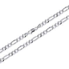 Brilio Silver MęskaŁańcuch wykonane ze srebra Figaro 60 cm 471 086 00167 04 - 16,50 g srebro 925/1000