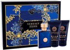 Versace Pour Homme Dylan Blue - EDT 50 ml + balzám po holení 50 ml + sprchový gel 50 ml