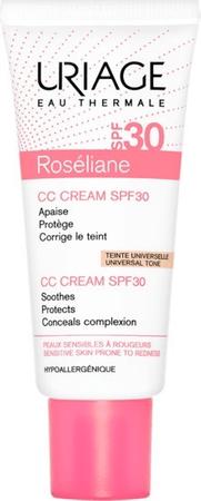 Uriage CC krém pro citlivou pleť se sklonem k začervenání SPF 30 Roséliane (CC Cream SPF 30) 40 ml