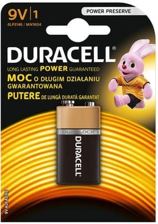 Duracell Alkalické baterie 9V, balení 1 ks 10PP100010