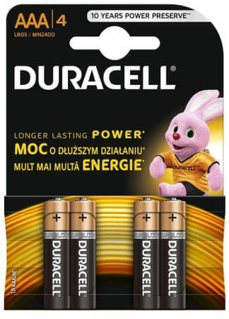 Duracell baterije AAA, 4kos (MN2400, LR3)