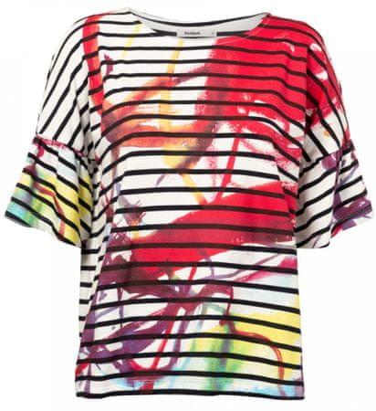 Desigual T-shirt damski TS Nottingham S wielokolorowy