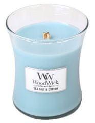 Woodwick dišeča sveča Morska sol in bombaž, 275 g