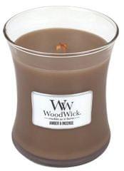 Woodwick Vonná svíčka Ambra a kadidlo 275 g