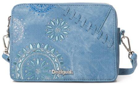 Desigual modrá crossbody kabelka Bols Patch Mandala Ed