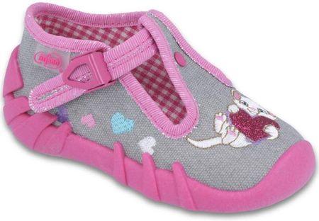 Befado lány bakancs cicával 19 rózsaszín