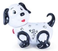 Rappa Rappa sétáló, világító, ugatós kutya - fekete/fehér
